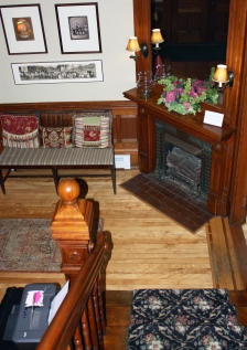 The Lang House Foyer and Staircase