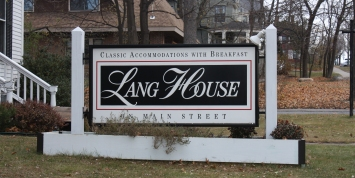 Lang House Sign - Burlington, Vermont Bed and Breakfast